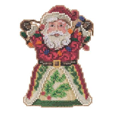 Santa with Lights Cross Stitch Ornament Kit Mill Hill 2021 Jim Shore JS202111