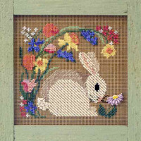 Blooming Bunny Cross Stitch Kit Mill Hill 1999 Buttons & Beads Spring