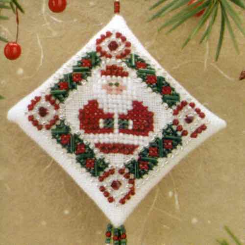 Menorah Tiny Treasured Diamond Bead Ornament Kit Mill Hill 2008