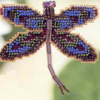Royal Mauve Dragonfly Bead Ornament Kit Mill Hill 2000 Spring Bouquet
