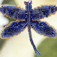 Rainbow Dragonfly Bead Cross Stitch Kit Mill Hill 2000 Spring Bouquet