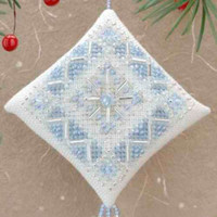 Ice Blue Snowflake Tiny Treasured Diamond Bead Kit Mill Hill 2000