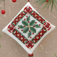 Holiday Holly Tiny Treasured Diamond Ornament Bead Kit Mill Hill 2000
