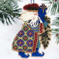 Eastern Star Santa Beaded Ornament Kit Mill Hill 2000 Starlight Santas