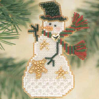 Star Snow Charmer Beaded Christmas Holiday Ornament Kit Mill Hill 2001