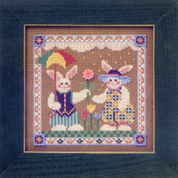 Spring Raindrops Cross Stitch Kit Mill Hill 2001 Buttons & Beads