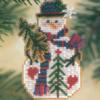 Pine Tree Snow Charmer Beaded Christmas Ornament Kit Mill Hill 2001