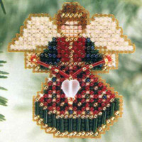 Joyful Angel Bead Christmas Ornament Kit Mill Hill 2001 Winter Holiday