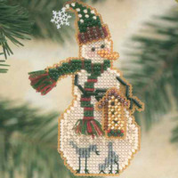 Birdhouse Snow Charmer Beaded Christmas Ornament Kit Mill Hill 2001