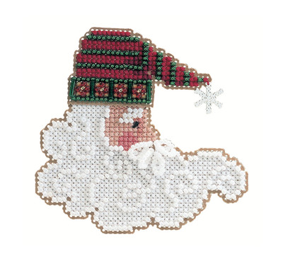 Twinkle Claus Beaded Ornament Kit Mill Hill 2002 Charmed Santa Faces