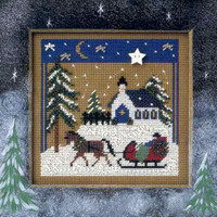 Sleigh Ride Cross Stitch Kit Mill Hill 2002 Buttons & Beads Winter
