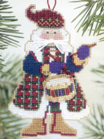 Drum Santa Bead Ornament Kit Mill Hill 2002 Musical Santas