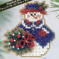Wintertime Snowlady Beaded Ornament Kit Mill Hill 2003 Winter Holiday