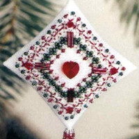 Plum Filigree Tiny Treasured Diamond Bead Ornament Kit Mill Hill 2003