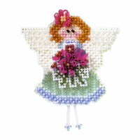 Angeline Beaded Cross Stitch Kit Mill Hill 2003 Spring Bouquet