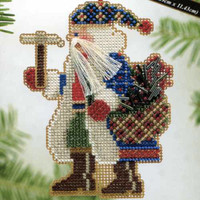 Mt Whitney Santa Bead Ornament Kit Mill Hill 2004 Mountaineer Santas
