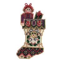 Joyful Stocking Bead Ornament Kit Mill Hill 2004 Charmed Stockings
