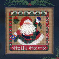 Holly Jolly Season Cross Stitch Mill Hill 2004 Buttons & Beads Winter