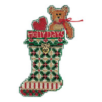 Holly Days Stocking Beaded Kit Mill Hill 2004 Charmed Stockings