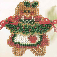 Ginger Cookie Christmas Ornament Kit Mill Hill 2004 Winter Holiday