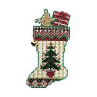 Evergreen Stocking Bead Ornament Kit Mill Hill 2004 Charmed Stockings