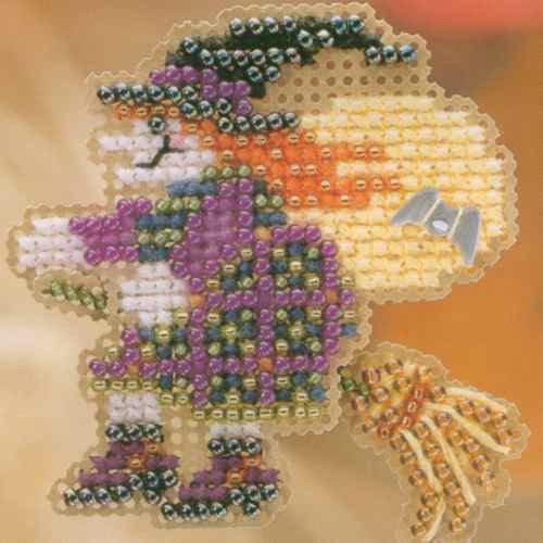 Broom Ride Halloween Bead Ornament Kit Mill Hill 2004 Autumn Harvest