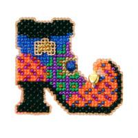 Wanda's Boot Halloween Beaded Kit Mill Hill 2005 Autumn Harvest