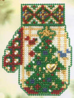 Star Topped Tree Bead Christmas Kit Mill Hill 2005 Mitten Ornaments