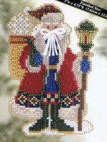 Snow Drift Santa Beaded Cross Stitch Kit Mill Hill 2005 Polar Santas