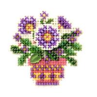 Primrose Pot Beaded Cross Stitch Kit Mill Hill 2005 Spring Bouquet
