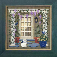 Wisteria Welcome Cross Stitch Kit Mill Hill 2006 Buttons & Beads