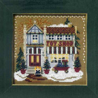 Toy Shop Beaded Cross Stitch Kit Mill Hill 2006 Buttons & Beads Winter