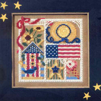 Summer Sampler Cross Stitch Kit Mill Hill 2006 Buttons & Beads Spring