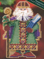Saxony Santa Beaded Cross Stitch Kit Mill Hill 2006 Medieval Santas