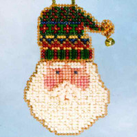Santa's Hat Beaded Holiday Ornament Kit Mill Hill 2006 Santa's Closet
