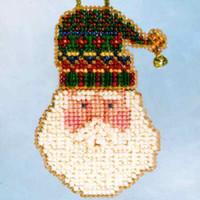 Santa's Hat Beaded Holiday Ornament Kit Mill Hill 2006 Santa's Closet