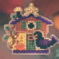 Halloween House Glass Bead Ornament Kit Mill Hill 2006 Autumn Harvest
