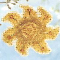 Golden Sun Beaded Cross Stitch Kit Mill Hill 2006 Spring Bouquet