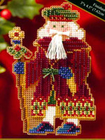 Avignon Santa Beaded Cross Stitch Kit Mill Hill 2006 Medieval Santas