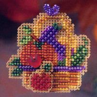 Autumn Bounty Beaded Cross Stitch Kit Mill Hill 2006 Autumn Harvest