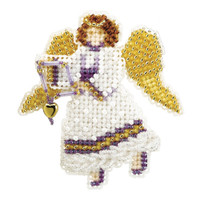 Snow Angel Beaded Christmas Ornament Kit Mill Hill 2007 Winter Holiday