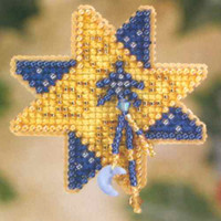 Shining Star Bead Christmas Ornament Kit Mill Hill 2007 Winter Holiday