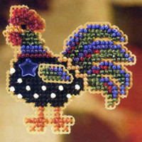 Provence Rooster Beaded Cross Stitch Kit Mill Hill 2007 Autumn Harvest