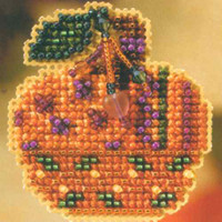 Jeweled Pumpkin Halloween Bead Kit Mill Hill 2007 Autumn Harvest