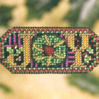 Jeweled Joy Beaded Cross Stitch Kit Mill Hill 2007 Winter Holiday