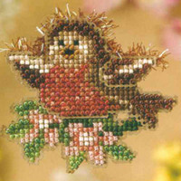 Rockin Robin Bead Cross Stitch Kit Mill Hill 2008 Spring Bouquet