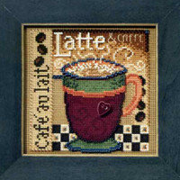 Latte Beaded Cross Stitch Kit Mill Hill 2008 Buttons & Beads Autumn