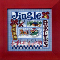 Jingle Bells Cross Stitch Kit Mill Hill 2008 Buttons & Beads Winter