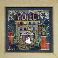 Haunted Hotel Cross Stitch Kit Mill Hill 2008 Buttons & Beads Autumn