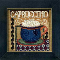 Cappuccino Bead Cross Stitch Kit Mill Hill 2008 Buttons & Beads Autumn